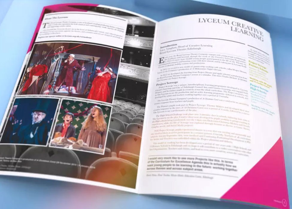 Royal Lyceum Theatre | Project Scrooge Brochure